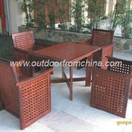 园林桌椅,庭院套椅,实木桌椅,组合椅