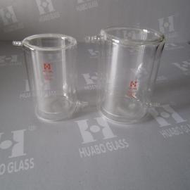 生产500ML-5L高硼硅玻璃双层烧杯,夹层烧杯,夹套烧杯