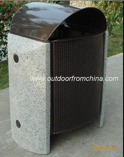 垃圾桶,金属垃圾桶,耐用垃圾桶-垃圾箱-公园果皮箱