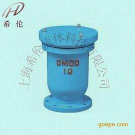 单口快速排气阀上海法兰排气阀铸铁放气阀自来水管道排气阀