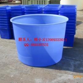 生产供应 高品质 高质量塑料圆桶,武汉1吨鸭脖腌制桶