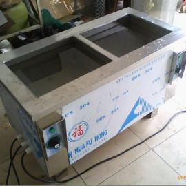 五金电镀厂双槽清洗机 超声波清洗