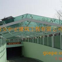 西安钢结构车道雨棚|安康钢结构车道雨棚|宝鸡钢结构车道雨棚榆林