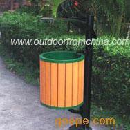 木条简洁垃圾桶,公园垃圾桶,环保垃圾桶