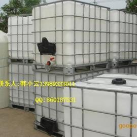 优质价廉供应1吨双氧水运输桶,杭州1立方带外框架方形桶