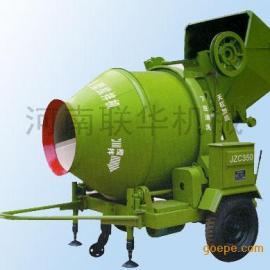 小型号混凝土搅拌机-JZC300爬斗式滚筒型