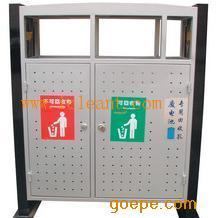 GPX-94 广州南方山樟木户外园林分类果皮箱