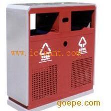 GPX-63 广州南方咖啡色/墨绿色户外冲孔垃圾桶
