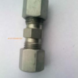 润滑液压管路附件卡套式端对接直通管接头