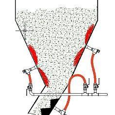 洗涤剂料仓破拱器