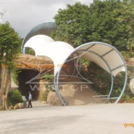 膜结构入口遮阳棚