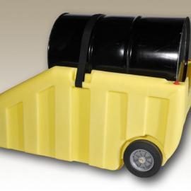 化工原料桶盛漏手推车 防泄漏拖车 防漏油桶搬运车 两油桶防泄漏