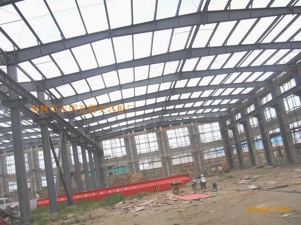 产品展示 常熟钢结构                    钢柱,钢梁,屋面檩条,墙面