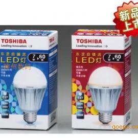 东芝led球泡灯7w6300k