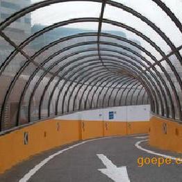 银川地下车库出口入口坡道雨棚耐力板