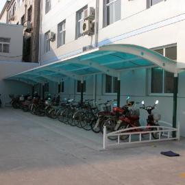 彩钢板车棚/彩钢板自行车棚/衡水汽车棚