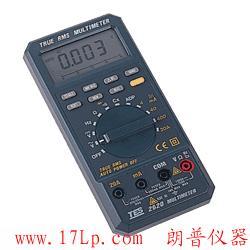 真均方根值数字式电表TES2620│台湾泰仕