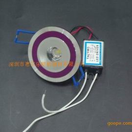 1*1W大功率LED天花�簦�LED射��
