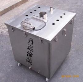 大型不锈钢粉桶,喷粉设备专用不锈钢粉桶