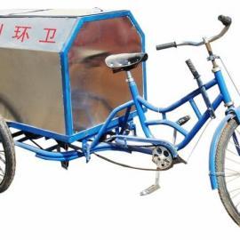 河南漯河不锈钢玻璃钢手推两轮三轮保洁车