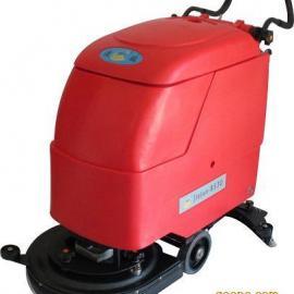 工业超市用电瓶洗地机手推式全自动拖地机工厂商场地面清洗机