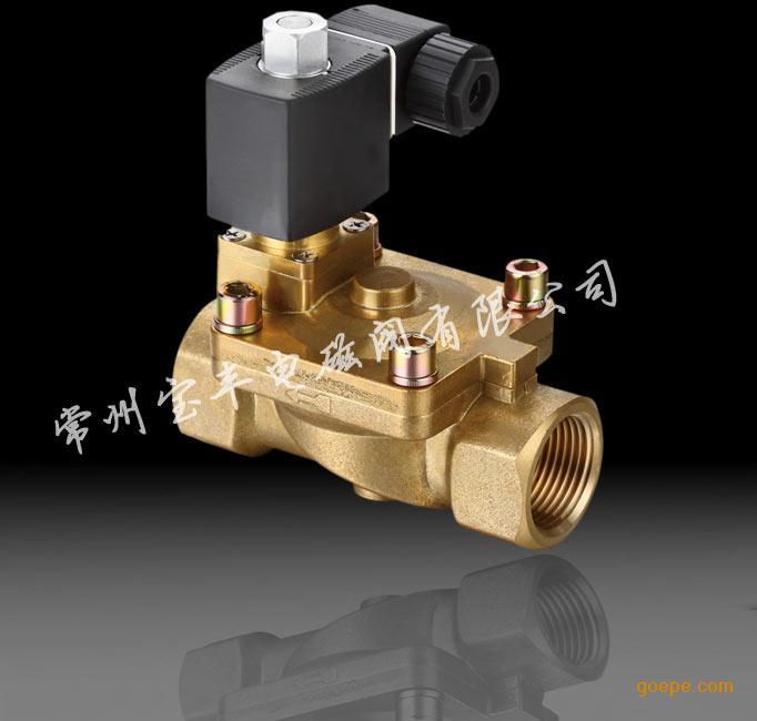 常州宝丰厂家直销 膜片式先导黄铜二位二通电磁阀 手动电磁阀图片