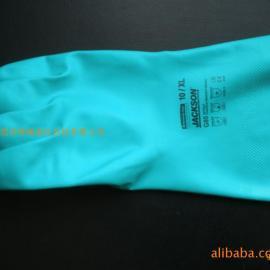 G80绿色丁腈化学防护手套