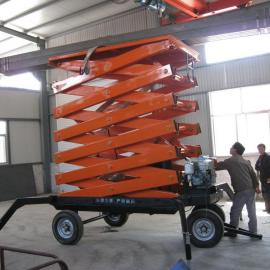 移动式升降机济南志华SJY0.5-10液压升降货梯碳钢焊接升降平台