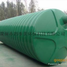 深圳玻璃钢化粪池,成品整体化粪池