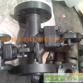 J41H小口径高温锻钢法兰端截止阀