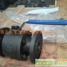 Q41F二片式锻钢法兰浮动球阀