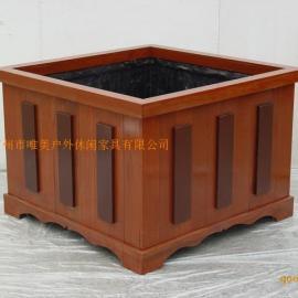 园林花箱 实木花箱 樟木花槽
