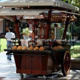 游乐园售货亭 景区综合服务亭、售卖车、实木售货亭