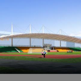 中型体育场看台张拉膜工程制作安装