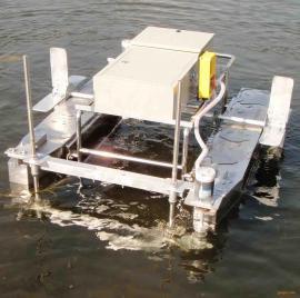 小型电动可遥控水草收割机