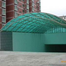 地下车库坡道雨棚9阳光板雨棚