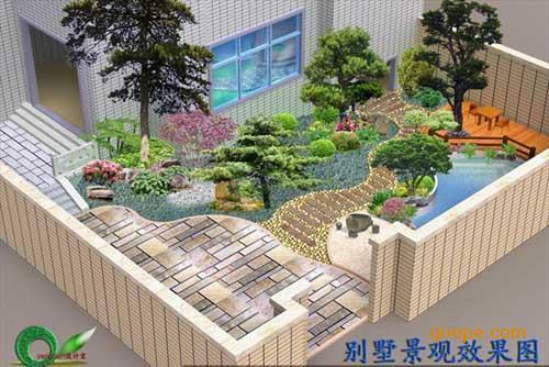 郑州私家别墅庭院景观规划设计图片