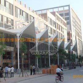 深圳美食街张拉膜工程制作安装