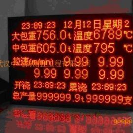 连铸机数据显示大屏幕