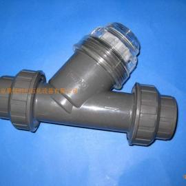 全进口材质PVC/UPVC过滤器  进口塑料Y型过滤器