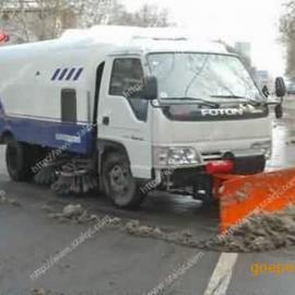 多功能扫路车加装推雪铲|推雪道路清扫车|小型扫雪车