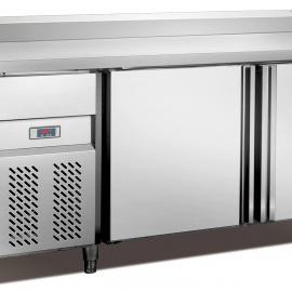 平台雪柜 卧式冷藏操作柜 两门工作台 雅绅宝冷柜 商用制冷