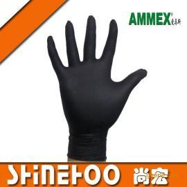*AMMEX~爱马斯~一次性黑色~丁腈手套~