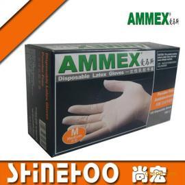 AMMEX~爱马斯~一次性乳胶手套#(无粉)