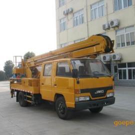 江铃双排座高空作业车价格 16米曲臂式高空作业车图片厂家