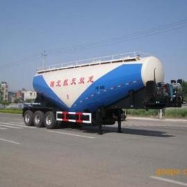 龙帝牌大型半挂粉粒物料运输车