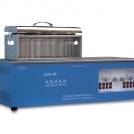 KDN-04单排定氮消化炉/嘉定粮油定氮消化炉