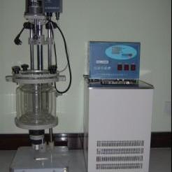 低温双层玻璃反应釜、上海1-3L小型低温玻璃反应釜