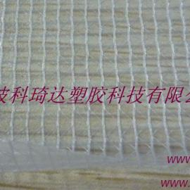 供应阻燃PVC透明夹网布文件袋面料