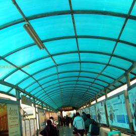 火车站阳光板采光顶棚(火车站阳光板采光带)阳光板采光棚
